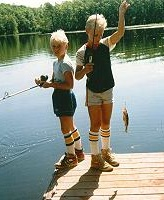 Billy and Bobby fishing
