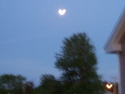 heart shaped moon in May 2007